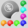 percentage discount icon sign Set of eight multi vector image vector image