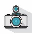 retro photo camera with long shadow vector image vector image