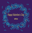 round frame for romantic valentines day design vector image vector image