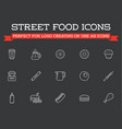 set fastfood fast food elements icons and vector image vector image