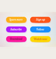 set modern ui buttons user interface template vector image