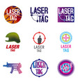 set of logos for laser tag vector image