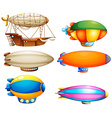 Sets of flying objects vector image vector image