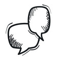 speech bubbles messages drawing vector image