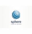 sphere creative internet symbol concept globe vector image