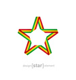 star with flag of Mali colors design element vector image