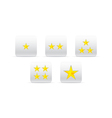 stars for ranking vector image vector image
