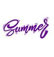 summer lettering phrase for postcard banner flyer vector image vector image