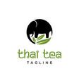 thai tea logo vector image vector image