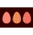 Three Easter eggs 2 vector image vector image