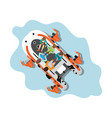 top view rescue team helping people isolated vector image vector image