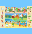 traveling people infographic concept vector image vector image