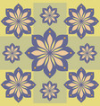 vintage floral pattern background in squares vector image