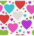Vivid seamless valentine pattern vector image