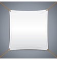 White Textile Banner vector image vector image