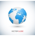 World Map and Globe Detail vector image vector image