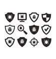 Antivirus protection web icons set vector image