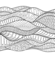 hand drawn stripe background outline ornamental in vector image