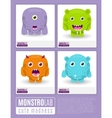 Monstrolab Cute Madness set of cartoon vector image