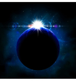 Planet from space vector image