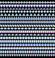 a set seamless border curbs made gems of vector image vector image