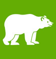 bear icon green vector image vector image