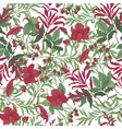 beautiful seamless pattern with beautiful red vector image