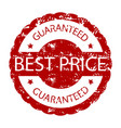 best price guaranteed rubber stamp vector image vector image
