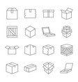box signs various boxes containers and boxes vector image