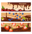 cartoon chocolate horizontal banners vector image vector image