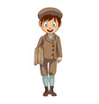 cartoon news paper boy isolated vector image vector image