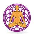 chakra meditating man vector image vector image