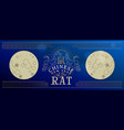 chinese new year rat 2020 gold full moon banner vector image vector image