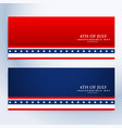 clean 4th july american banners vector image vector image