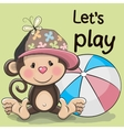 Cute Monkey with a ball vector image vector image