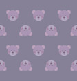 Cute teddy bears heads - seamless pattern texture vector image