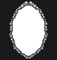 decorative oval vintage frame vector image