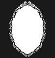decorative oval vintage frame vector image
