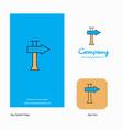 direction board company logo app icon and splash vector image vector image