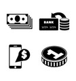 dollar money cash simple related icons vector image vector image