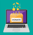donate online concept vector image