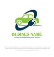 electric car logo designs vector image vector image