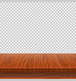 empty wooden perspective table for product vector image vector image