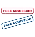 free admission rubber stamps