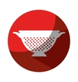 fried pot kitchen tool isolated icon vector image