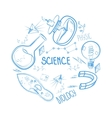 Hand drawn science set Circle design vector image