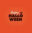 happy halloween text logo vector image vector image
