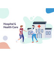 hospital and health care vector image vector image