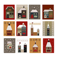 houses set for scrapbooking vector image vector image