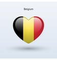 Love Belgium symbol Heart flag icon vector image vector image